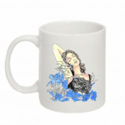 Кружка 320ml Girl in blue colors