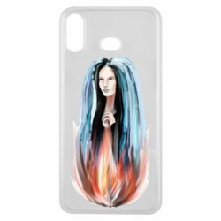 Чехол для Samsung A6s Girl in flame