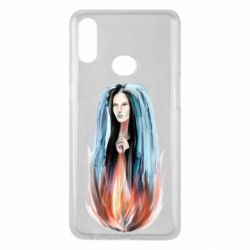 Чехол для Samsung A10s Girl in flame