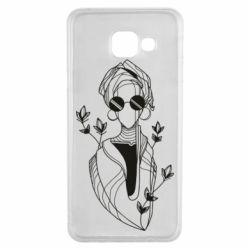 Чехол для Samsung A3 2016 Girl in flowers and glasses