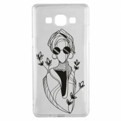 Чехол для Samsung A5 2015 Girl in flowers and glasses