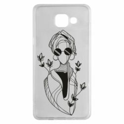 Чехол для Samsung A5 2016 Girl in flowers and glasses