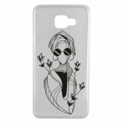 Чехол для Samsung A7 2016 Girl in flowers and glasses