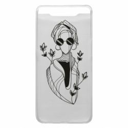 Чехол для Samsung A80 Girl in flowers and glasses