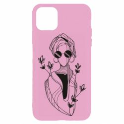 Чехол для iPhone 11 Pro Girl in flowers and glasses
