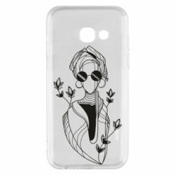 Чехол для Samsung A3 2017 Girl in flowers and glasses