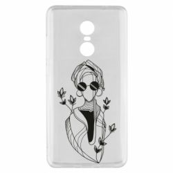 Чехол для Xiaomi Redmi Note 4x Girl in flowers and glasses