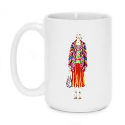 Кружка 420ml Girl in rainbow coat