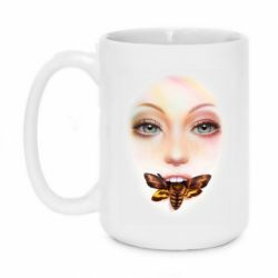 Кружка 420ml Girl's face and bee