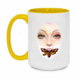 Кружка двоколірна 420ml Girl's face and bee