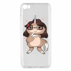 Чехол для Xiaomi Xiaomi Mi5/Mi5 Pro Girl Sloth with Unicorn Horn - FatLine