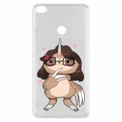 Чехол для Xiaomi Mi Max 2 Girl Sloth with Unicorn Horn - FatLine