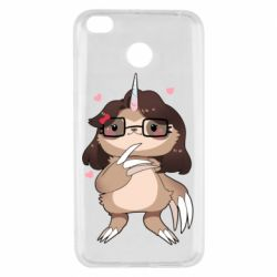 Чехол для Xiaomi Redmi 4x Girl Sloth with Unicorn Horn - FatLine