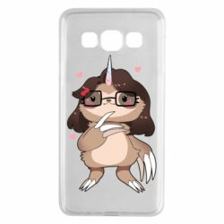 Чехол для Samsung A3 2015 Girl Sloth with Unicorn Horn - FatLine