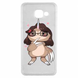 Чехол для Samsung A3 2016 Girl Sloth with Unicorn Horn - FatLine