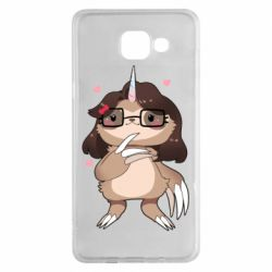 Чехол для Samsung A5 2016 Girl Sloth with Unicorn Horn - FatLine