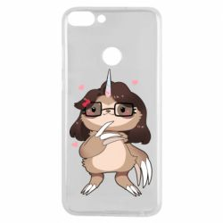 Чехол для Huawei P Smart Girl Sloth with Unicorn Horn - FatLine