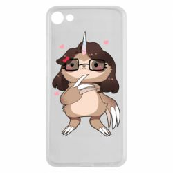 Чехол для Meizu U10 Girl Sloth with Unicorn Horn - FatLine