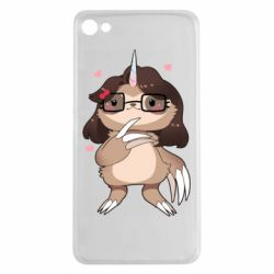 Чехол для Meizu U20 Girl Sloth with Unicorn Horn - FatLine