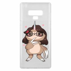 Чехол для Samsung Note 9 Girl Sloth with Unicorn Horn - FatLine