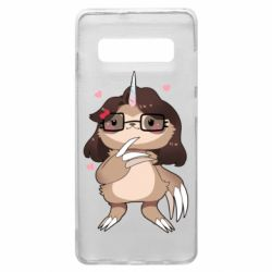 Чехол для Samsung S10+ Girl Sloth with Unicorn Horn - FatLine