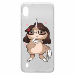 Чехол для Samsung A10 Girl Sloth with Unicorn Horn - FatLine