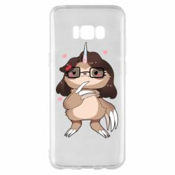 Чехол для Samsung S8+ Girl Sloth with Unicorn Horn - FatLine