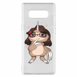 Чехол для Samsung Note 8 Girl Sloth with Unicorn Horn - FatLine
