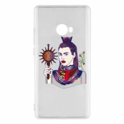 Чехол для Xiaomi Mi Note 2 Girl with a crown and a flower on a beard
