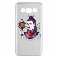 Чехол для Samsung A3 2015 Girl with a crown and a flower on a beard