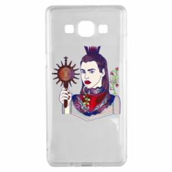 Чехол для Samsung A5 2015 Girl with a crown and a flower on a beard