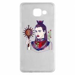 Чехол для Samsung A5 2016 Girl with a crown and a flower on a beard