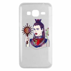 Чехол для Samsung J3 2016 Girl with a crown and a flower on a beard