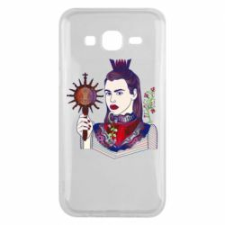 Чехол для Samsung J5 2015 Girl with a crown and a flower on a beard
