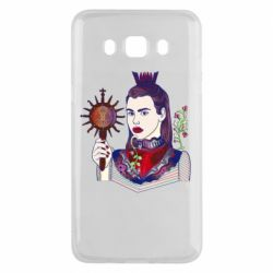 Чехол для Samsung J5 2016 Girl with a crown and a flower on a beard