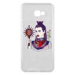 Чехол для Samsung J4 Plus 2018 Girl with a crown and a flower on a beard