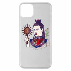 Чехол для iPhone 11 Pro Max Girl with a crown and a flower on a beard