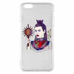 Чехол для iPhone 6 Plus/6S Plus Girl with a crown and a flower on a beard