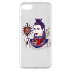 Чехол для iPhone 7 Girl with a crown and a flower on a beard