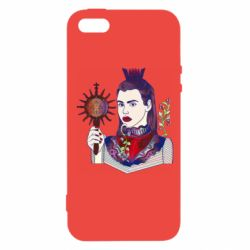 Чехол для iPhone5/5S/SE Girl with a crown and a flower on a beard