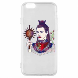Чехол для iPhone 6/6S Girl with a crown and a flower on a beard
