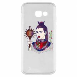 Чехол для Samsung A5 2017 Girl with a crown and a flower on a beard