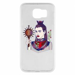 Чехол для Samsung S6 Girl with a crown and a flower on a beard