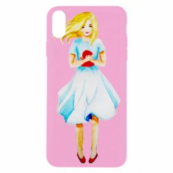 Чехол для iPhone Xs Max Girl with a doll art