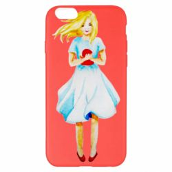 Чехол для iPhone 6 Plus/6S Plus Girl with a doll art
