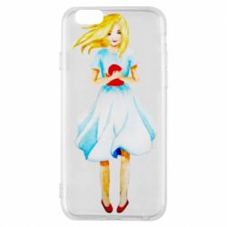 Чехол для iPhone 6/6S Girl with a doll art