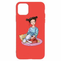 Чохол для iPhone 11 Pro Max Girl with a plush hare