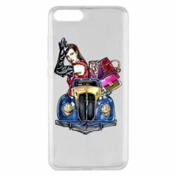 Чехол для Xiaomi Mi Note 3 Girl with a retro car