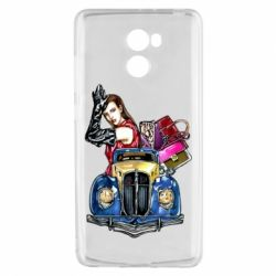 Чехол для Xiaomi Redmi 4 Girl with a retro car