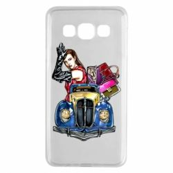 Чехол для Samsung A3 2015 Girl with a retro car
